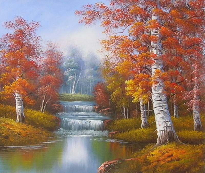 Connu Tableau paysage. Paysages en peinture. QV44