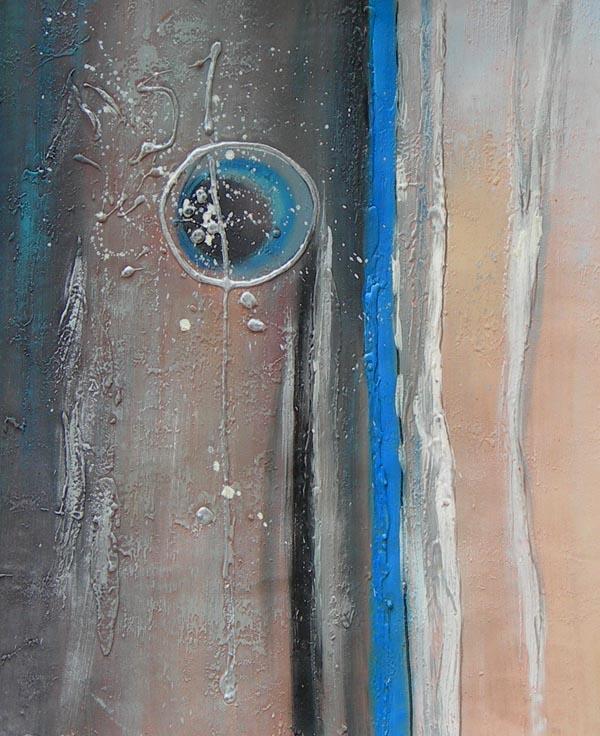Tableau abstrait gris bleu tableau peinture abstraite for Tableau bleu et gris