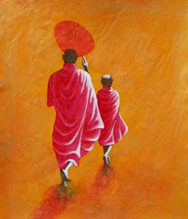 Tableau ethnique 3755 e tableaux et3755 tableau contemporain moderne vente - Tableau ethnique contemporain ...