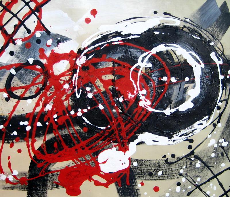 tableau contemporain abstrait rouge gris noir peinture abstraite. Black Bedroom Furniture Sets. Home Design Ideas