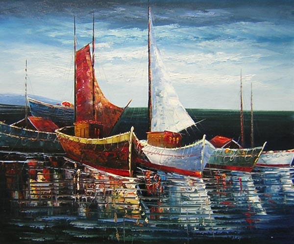 Tableau Paysage Marin Voiliers Paysages Voiliers En Peinture