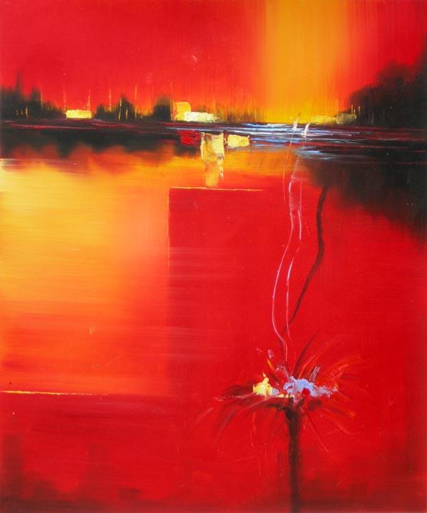 Tableau contemporain abstrait. Tableau peinture abstraite