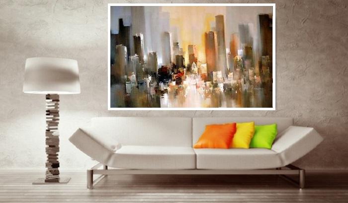 Charmant Tableaux Contemporains Modernes   Tableau Peinture Deco Design